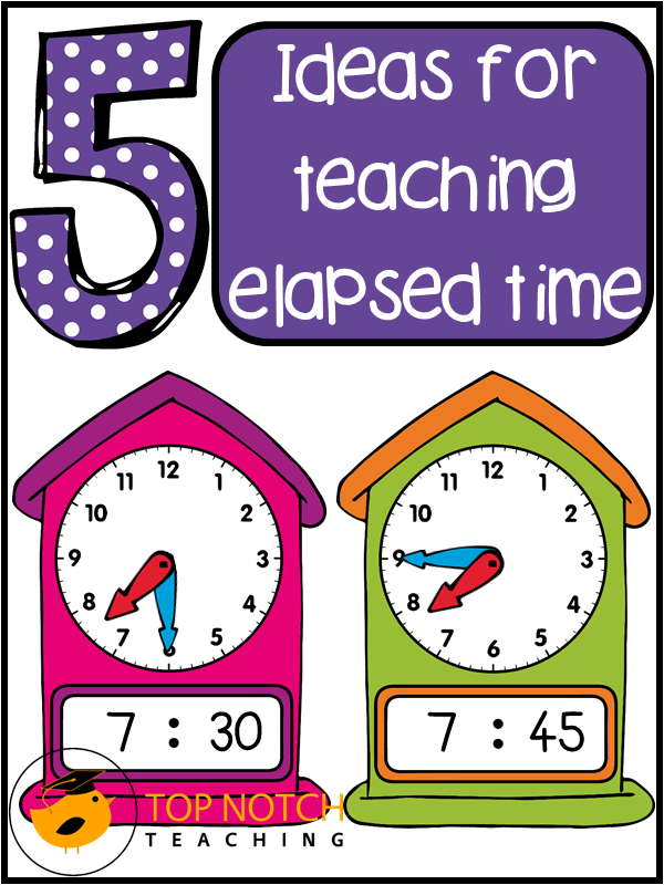Ideas for teaching elapsed time top notch teaching